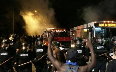 Protestas en Charlotte tras la muerte de un afroamericano por parte de l...