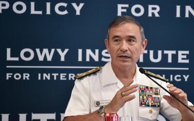 El jefe del Comando del Pacífico, almirante Harry Harris, pintó un escen...