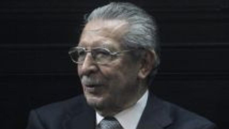 El ex dictador Efraín Ríos Montt.