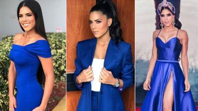 Clásico, elegante o espectacular: Francisca Lachapel apuesta por el azul eléctrico con mucho estilo