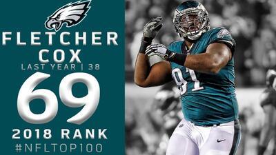 #69 Fletcher Cox (DT, Eagles)   Top 100 Jugadores NFL 2018