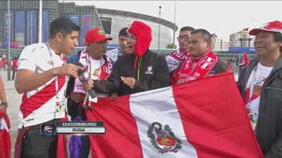 """""""Si no ganamos no importa, estamos  felices en Rusia"""": fans de Perú, previo al juego ante Francia"""