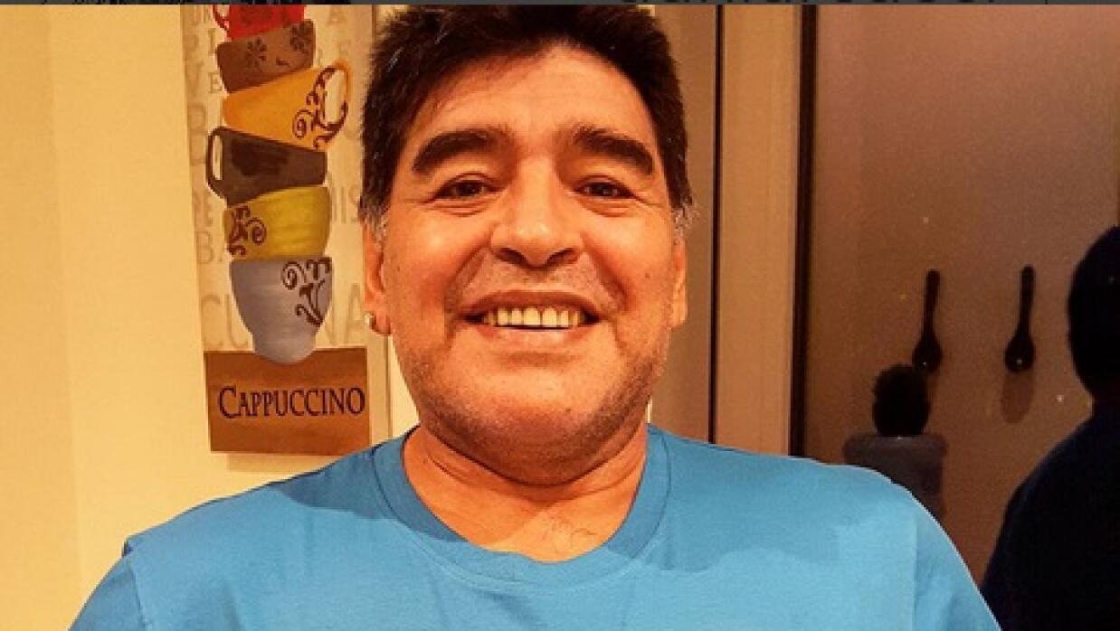 Maradona mandó un mensaje