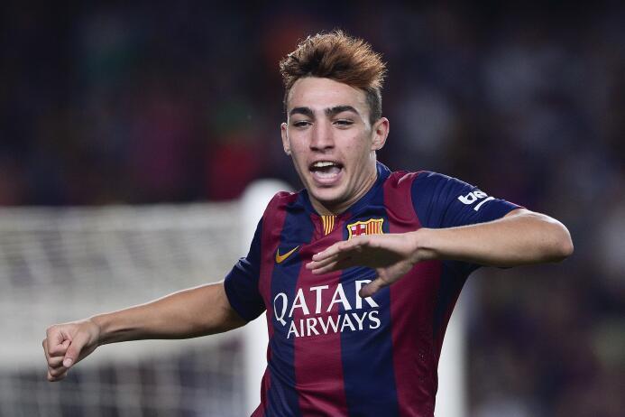 Munir El-Haddadi debutó y marcó en el triunfo del Barcelona por 3-0 ante...