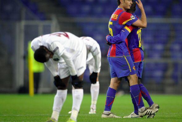 Pero un solitario gol del argentino Almerares bastó para que el Basilea...