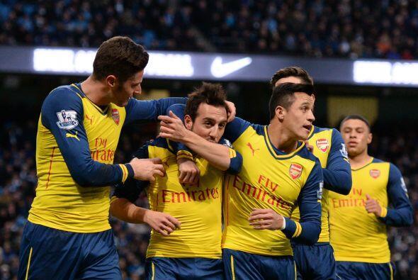 Con este gol el cuadro del Arsenal reflejaba en el marcador el ligero do...