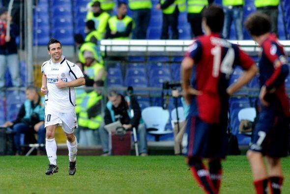 Pero no contaban con el acierto del atacante Antonio Di Natale.