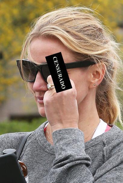 A pesar de la grosería de la actriz, las cámaras siguieron tomando fotos.