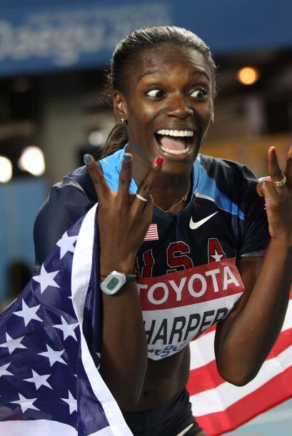 Dawn Harper se quedó con la medalla de Bronce en los 100 metros con obst...