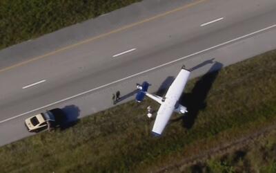 Avioneta se vio forzada a realizar aterrizaje de emergencia en Broward