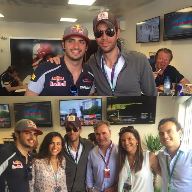 En una de sus visitas a un GP, Enrique se dio el gusto de conocer a Carl...