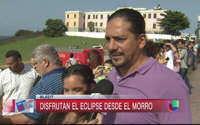 Miles pudieron disfrutar del eclipse solar en Puerto Rico
