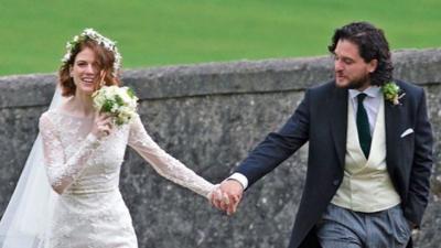 Rose Leslie y Kit Harington, actores de 'Game of Thrones', se casaron (sí, igual que en la serie)