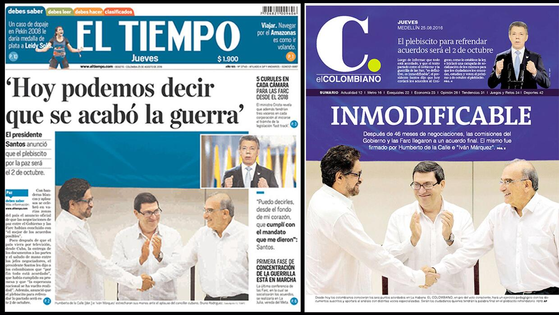 En fotos: Sonrisas y lágrimas en un plebiscito que dividió a Colombia tr...