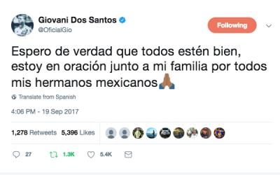 Giovani dos Santos - Tweet