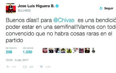 José Luis Higuera y su polémico tweet previo a la semifinal que le ganó...