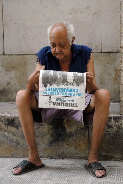 El diario oficial Granma destacó que todos los ancianos que sobrepasan l...