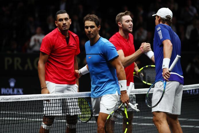 Europa se lleva la Laver Cup con un Federer inmenso kyrgios-sock-a-nadal...