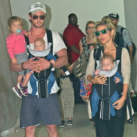 Chris Hemsworth, Elsa Pataky y sus hijos