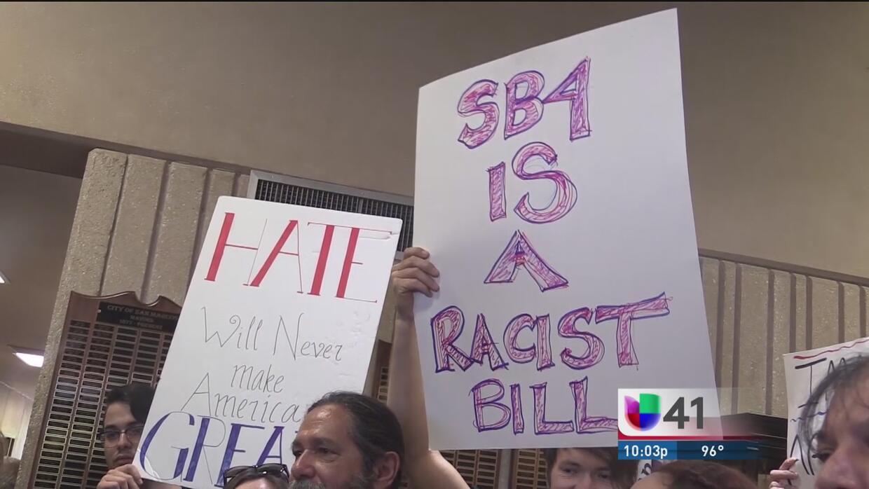 San Marcos muestra su rechazo a la ley SB 4