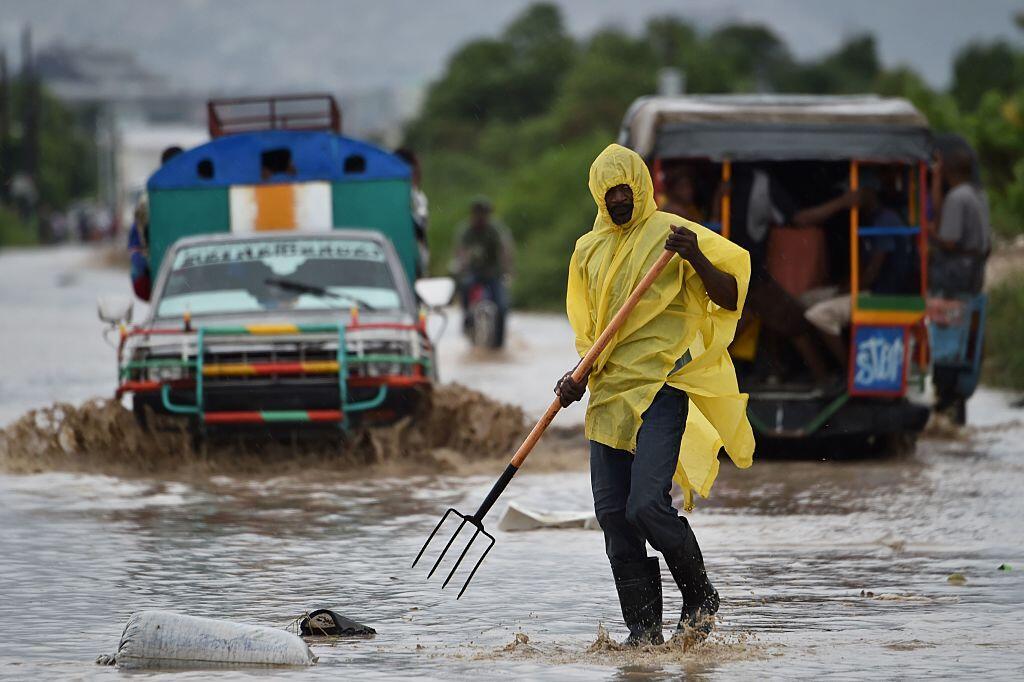 Inundaciones y desbordamientos que deja Matthew en Cite Soleil, en Haití