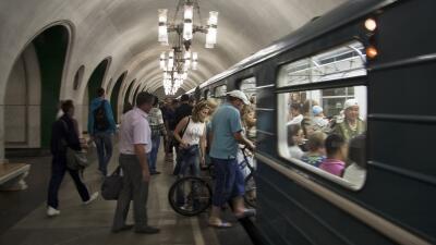 El metro de Moscú es conocido por su fastuosidad.