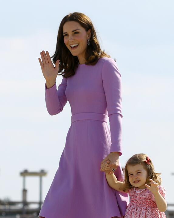 Kate Middleton y princesa Charlotte