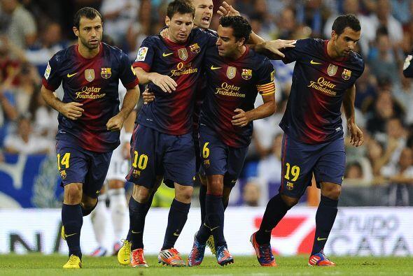 El Barcelona descontaba justo antes de que acabara el primer tiempo, jug...