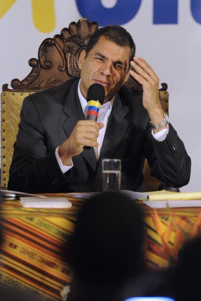 """En medio de su virtual secuestro, Correa había advertido que """"yo salgo d..."""