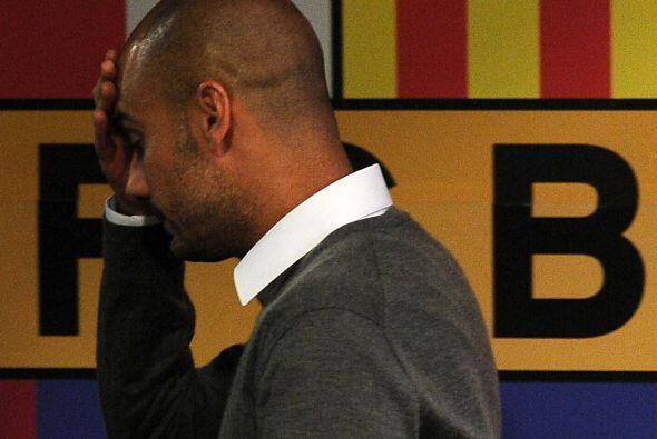 Guardiola se despidió del Barcelona en conferencia de prensa. Varios jug...