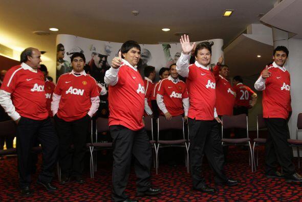 Los hombres llegaron a Manchester como invitados de los 18 veces campeon...