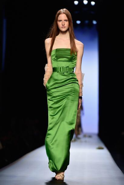 Los tonos como el verde le dieron mucha vida a esta pasarela, que dejó a...