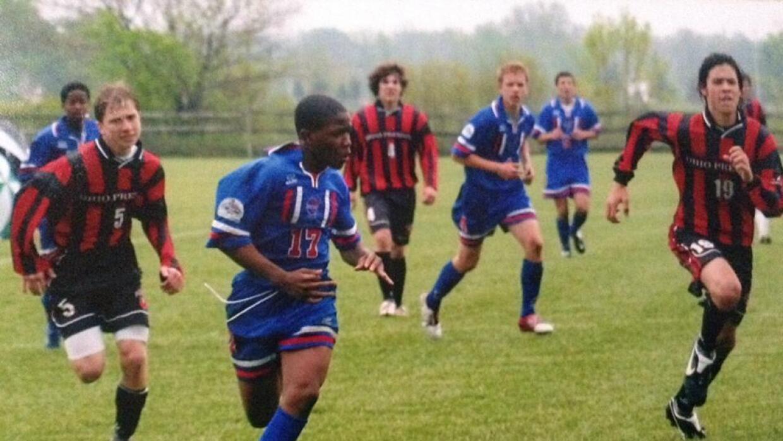 Nagbe, a los 12 años, jugando para los Cleveland International.