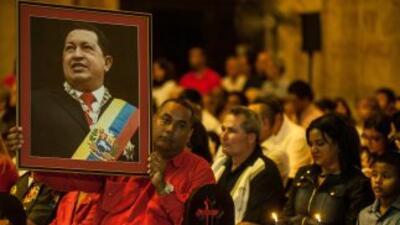 Simpatizantes del presidente de Venezuela, Hugo Chávez.