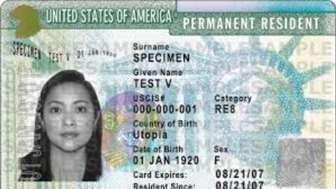 Green card, la tarjeta que demuestra que un extranjero es residente lega...