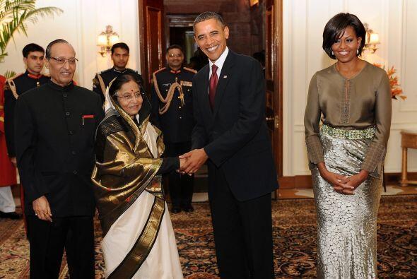 No faltaron las recepciones. La presidenta de India, Pratihba Patil y su...