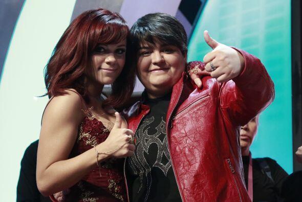 Junto a Ana Cristina, antes de saber su suerte en la competencia.