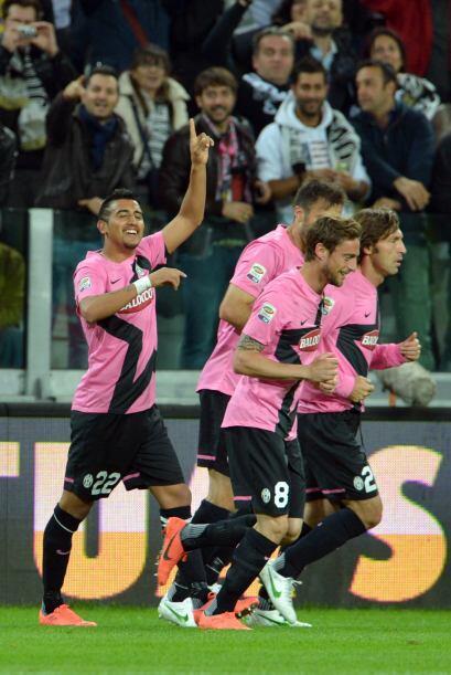 El chileno Arturo Vidal marcaba el 1-0.