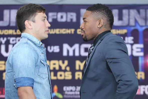 Gennady Golovkin y Willie Monroe Jr. presentaron su pelea del próximo 16...