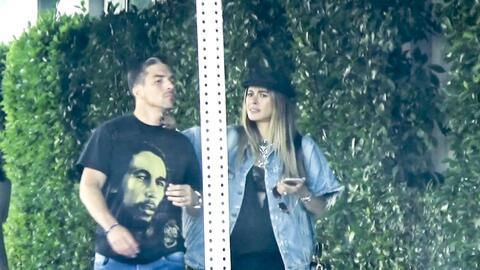 Galilea Montijo y su esposo en Los Angeles