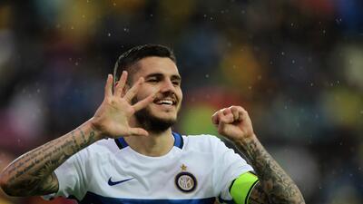 Mauro Icardi le da el triunfo al Inter en el campo del Frosinone