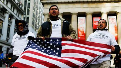Una caravana de dreamers se desplaza de Nueva York a Washington