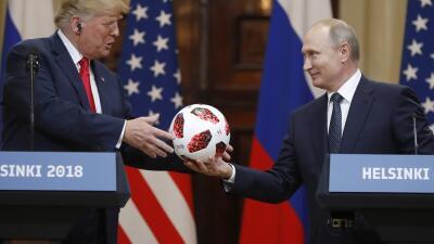 Tras acabar Rusia 2018, Vladimir Putin le 'pasa la bolita' del Mundial a Donald Trump