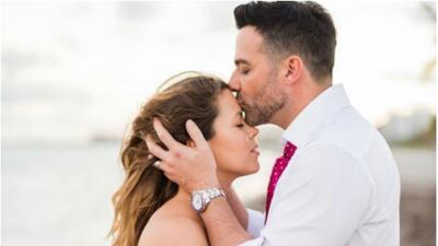 Ximena Duque y su esposo