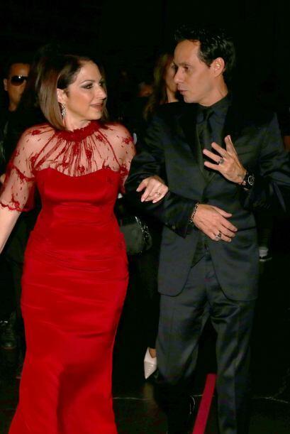 Muy platicadores Gloria Estefan y Marc Anthony, ¿estarán planeando algo...
