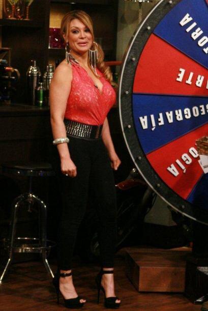 En la ruleta Marisol demostró que ella tiene talento para los juegos.