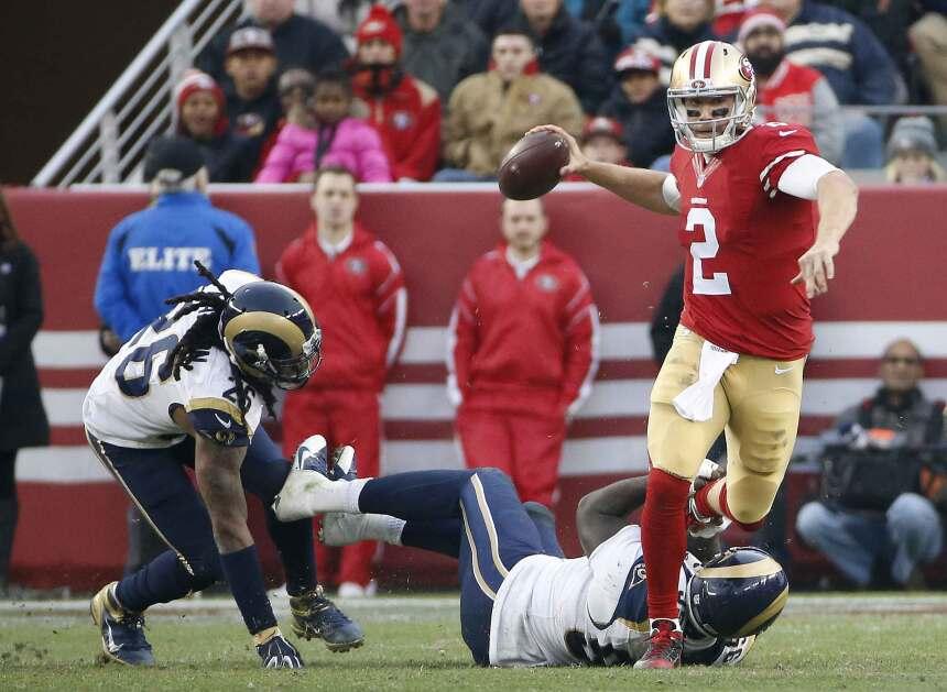 Blaine Gabbert completó 28 de 44 pases para 356 yardas con un touchdown...
