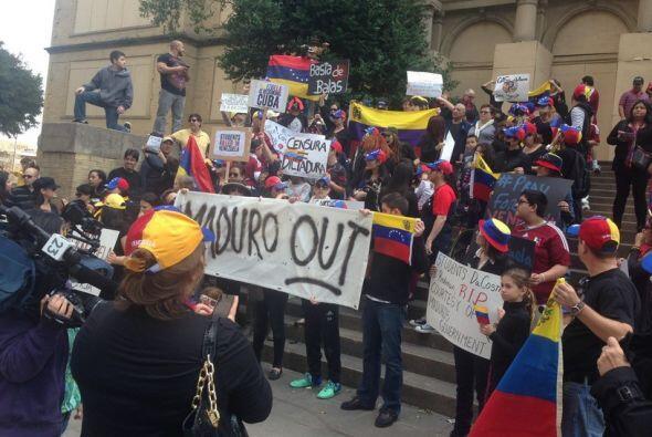 Venezolanos en Dallas alzan su voz