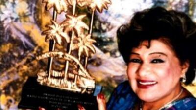 La cantante cubana Olga Guillot, conocida como La Reina del Bolero.
