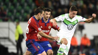 Julian Draxler marcó el único gol en la victoria del Wolfsburgo.